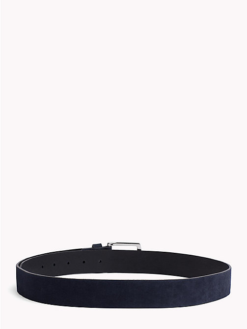 TOMMY HILFIGER Nubuck Leather Belt - TOMMY NAVY - TOMMY HILFIGER Belts - detail image 1