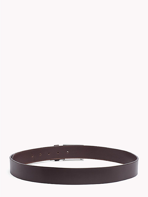 TOMMY HILFIGER Layton Leather Belt - TESTA DI MORO - TOMMY HILFIGER Belts - detail image 1