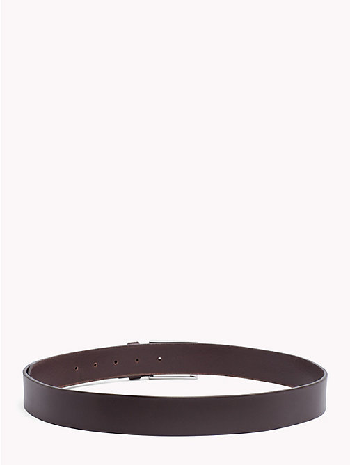 TOMMY HILFIGER Matte Buckle Leather Belt - TESTA DI MORO - TOMMY HILFIGER Bags & Accessories - detail image 1