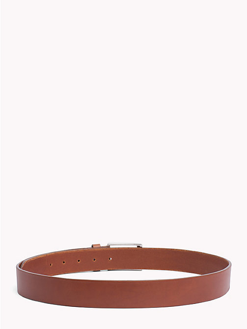 TOMMY HILFIGER Matte Buckle Leather Belt - DARK TAN - TOMMY HILFIGER Belts - detail image 1