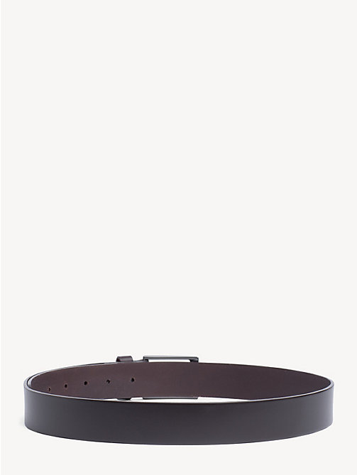 TOMMY HILFIGER Matte Buckle Leather Belt - TESTA DI MORO - TOMMY HILFIGER Belts - detail image 1