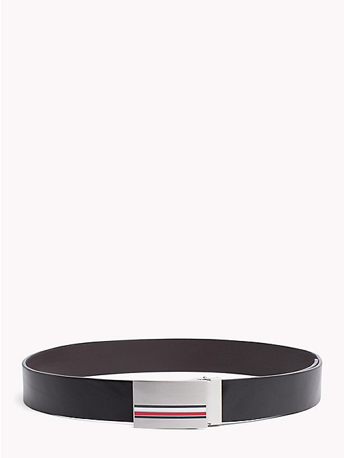 TOMMY HILFIGER Signature Reversible Leather Belt - BLACK - TOMMY HILFIGER Belts - main image