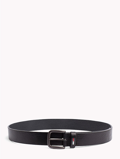 TOMMY JEANS Tommy Jeans Flag Belt - BLACK - TOMMY JEANS Belts - main image