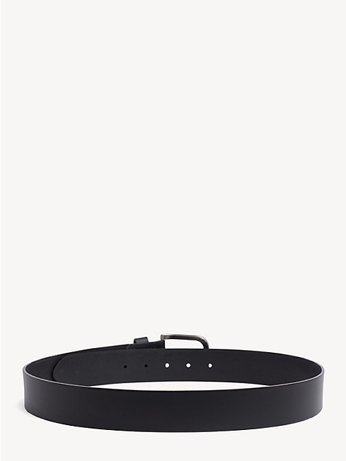 TOMMY JEANS Flag Leather Belt - BLACK - TOMMY JEANS Belts - detail image 1