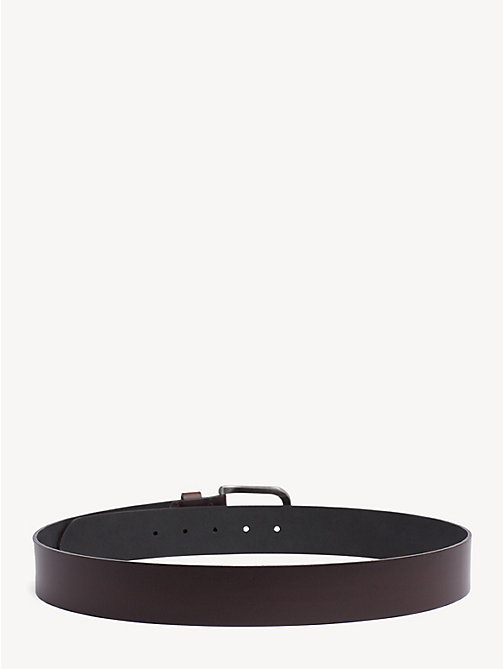 TOMMY JEANS Flag Leather Belt - TESTA DI MORO - TOMMY JEANS Belts - detail image 1