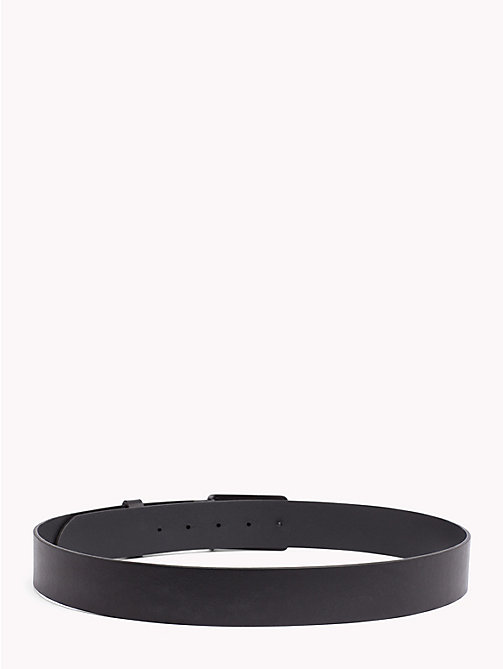 TOMMY JEANS Plaque Leather Belt - BLACK - TOMMY JEANS Shoes & Accessories - detail image 1