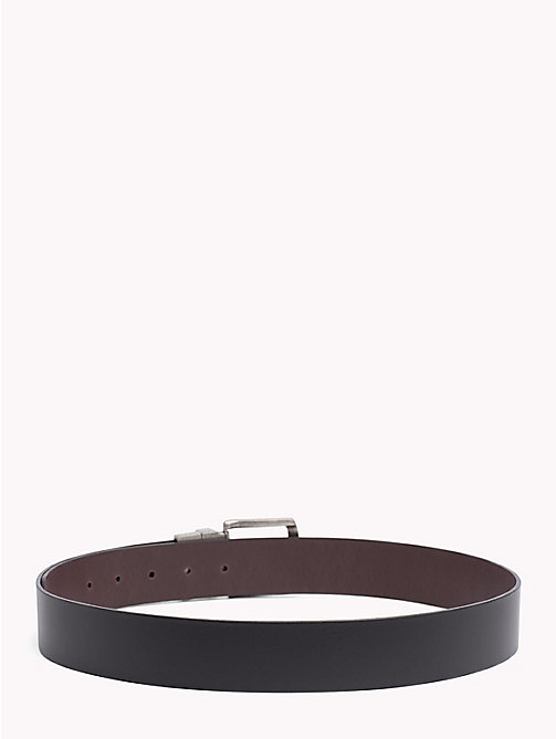 TOMMY JEANS Reversible Two-Tone Leather Belt - BLACK/ TESTA DI MORO - TOMMY JEANS Belts - detail image 1
