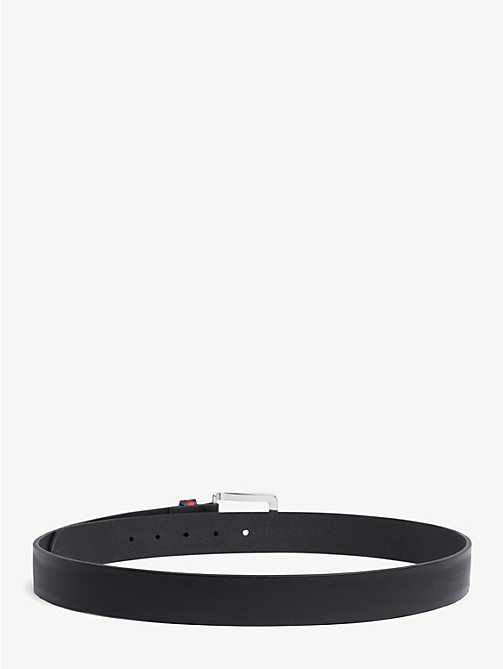 TOMMY JEANS Flag Keeper Leather Belt - BLACK - TOMMY JEANS NEW IN - detail image 1