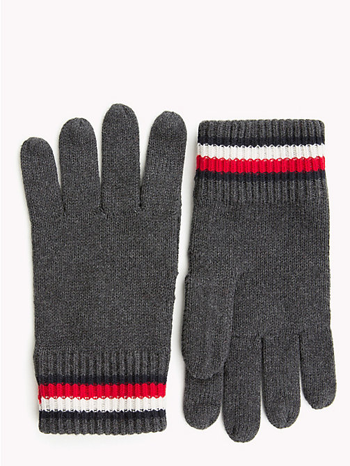 TOMMY HILFIGER Heritage Signature Wool Gloves - CHARCOAL HTR - TOMMY HILFIGER Winter Warmers - main image