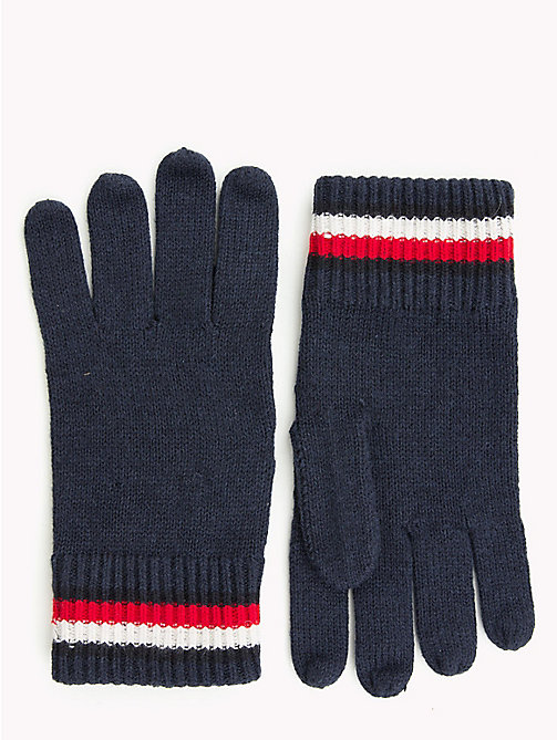 TOMMY HILFIGER Heritage Signature Wool Gloves - TOMMY NAVY - TOMMY HILFIGER Gloves - main image