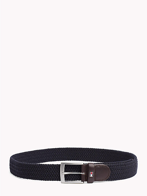 TOMMY HILFIGER Woven Gift Box Belt - TOMMY NAVY - TOMMY HILFIGER NEW IN - main image