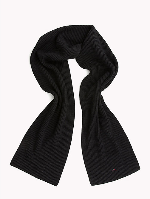 TOMMY HILFIGER Cotton Scarf and Beanie Set - BLACK - TOMMY HILFIGER NEW IN - detail image 1