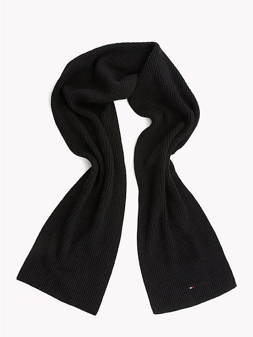 TOMMY HILFIGER Cotton Scarf and Beanie Set - BLACK - TOMMY HILFIGER Gifts for Him - detail image 1