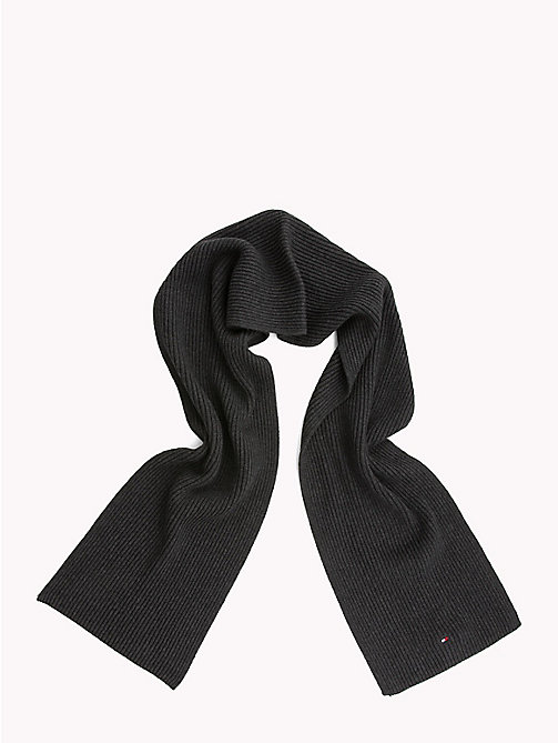 TOMMY HILFIGER Cotton Scarf and Beanie Set - CHARCOAL HTR - TOMMY HILFIGER NEW IN - detail image 1