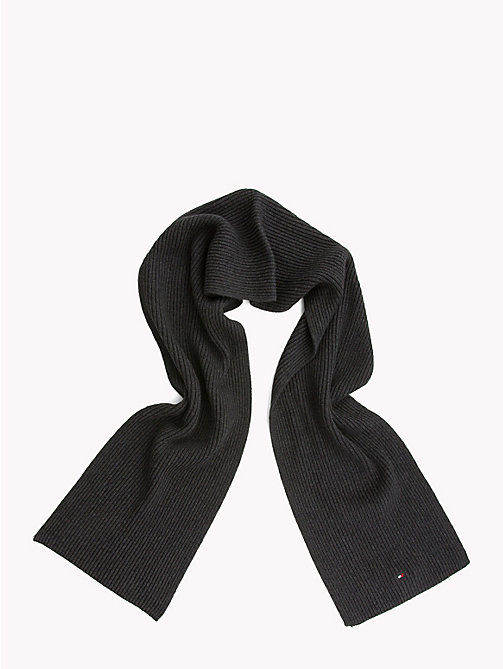 TOMMY HILFIGER Cotton Scarf and Beanie Set - CHARCOAL HTR - TOMMY HILFIGER Scarves - detail image 1
