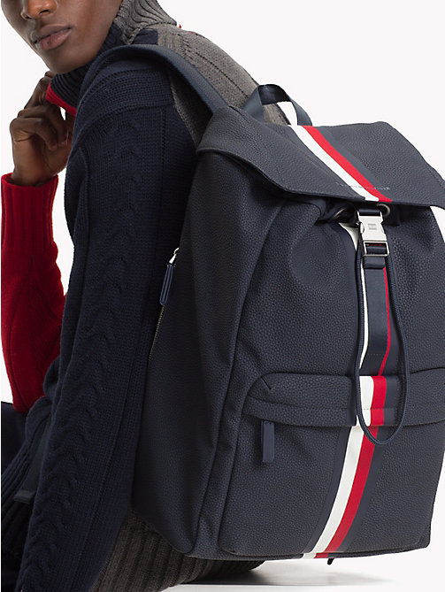 TOMMY HILFIGER Tommy Tape Backpack - TOMMY NAVY - TOMMY HILFIGER What to wear - detail image 1