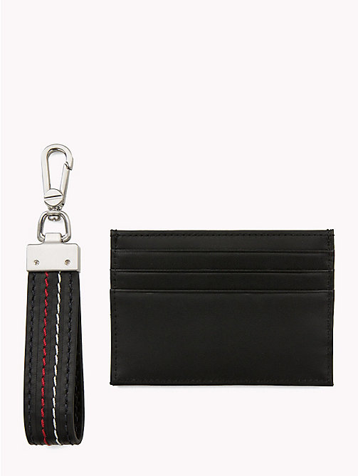 TOMMY HILFIGER Signature Stitch Cardholder and Key Fob Set - BLACK - TOMMY HILFIGER NEW IN - detail image 1