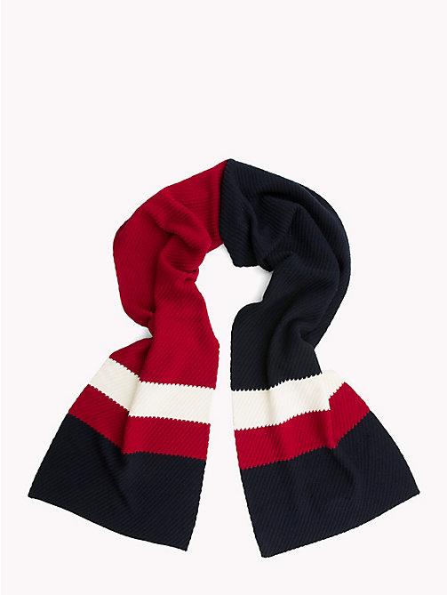 TOMMY HILFIGER Lewis Hamilton Stripe Scarf - TOMMY NAVY - TOMMY HILFIGER Bags & Accessories - detail image 1