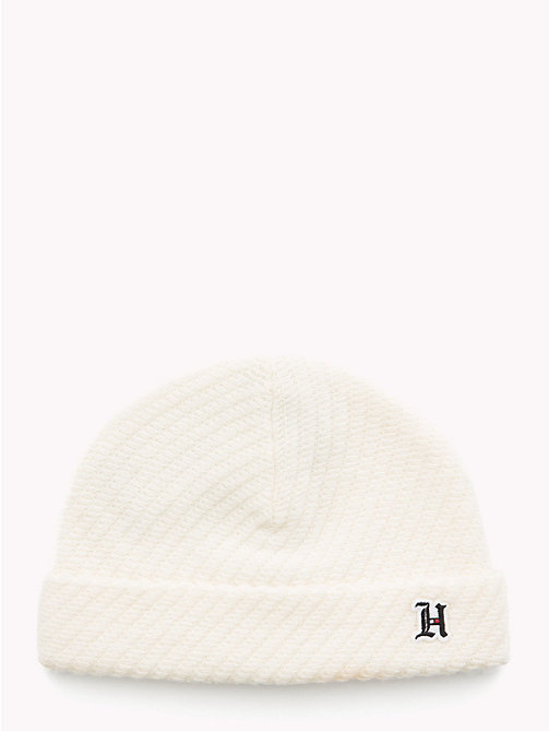 TOMMY HILFIGER Lewis Hamilton Short Beanie - BRIGHT WHITE - TOMMY HILFIGER Bags & Accessories - main image