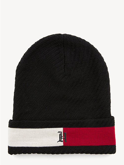 TOMMY HILFIGER Lewis Hamilton Slouchy Beanie - BLACK - TOMMY HILFIGER TOMMY NOW MEN - main image