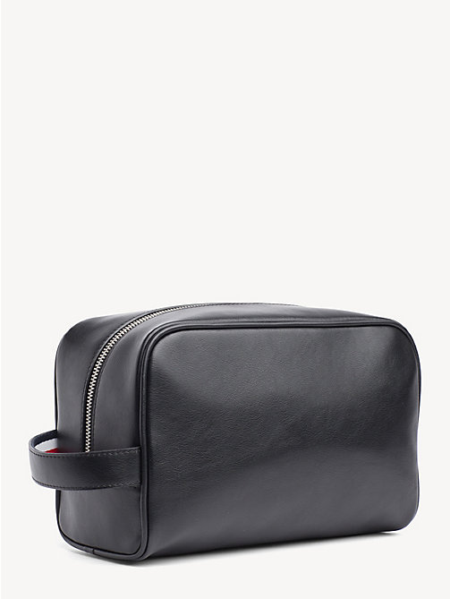 TOMMY HILFIGER TH Business Logo Washbag - BLACK - TOMMY HILFIGER NEW IN - detail image 1