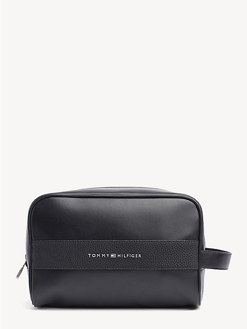 TOMMY HILFIGER TH Business Logo Washbag - BLACK - TOMMY HILFIGER NEW IN - main image