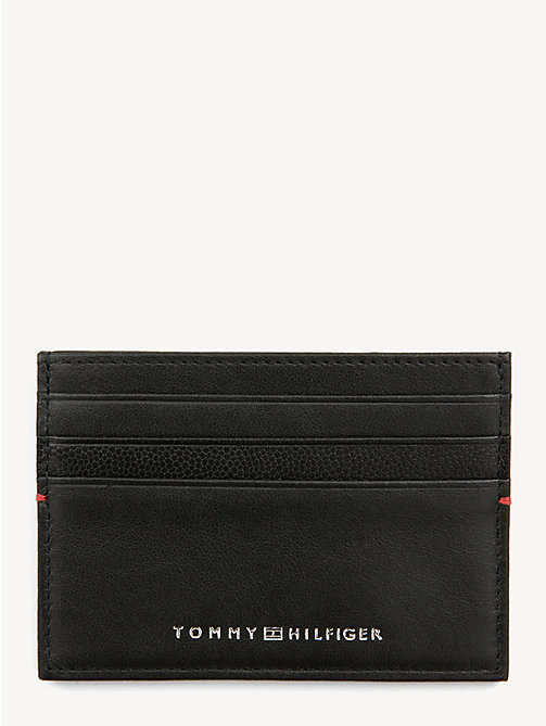 TOMMY HILFIGER TH Business Card Holder - BLACK - TOMMY HILFIGER Stocking Stuffers - main image