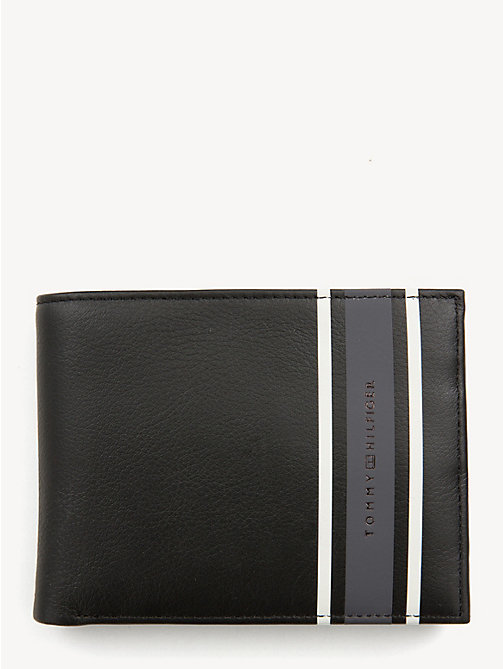 TOMMY HILFIGER TH Stripe Logo Wallet - BLACK - TOMMY HILFIGER Wallets & Keyrings - main image