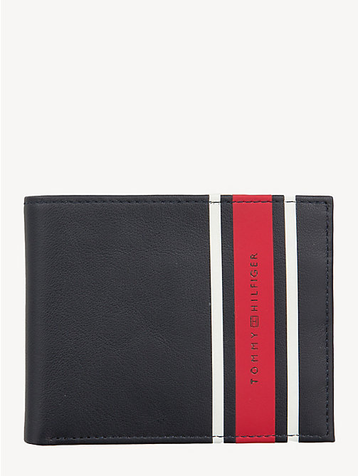 TOMMY HILFIGER TH Stripe Small Card Wallet - TOMMY NAVY - TOMMY HILFIGER Wallets & Keyrings - main image