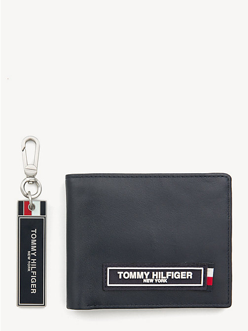 TOMMY HILFIGER TH Patch 3-in-1 Wallet, Cardholder and Key Fob Set - TOMMY NAVY - TOMMY HILFIGER NEW IN - main image