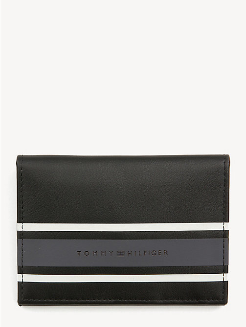TOMMY HILFIGER TH Stripe Card Holder - BLACK - TOMMY HILFIGER NEW IN - main image