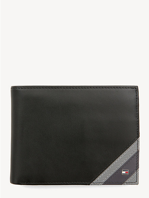 TOMMY HILFIGER Edge Stripe Wallet - BLACK - TOMMY HILFIGER NEW IN - main image