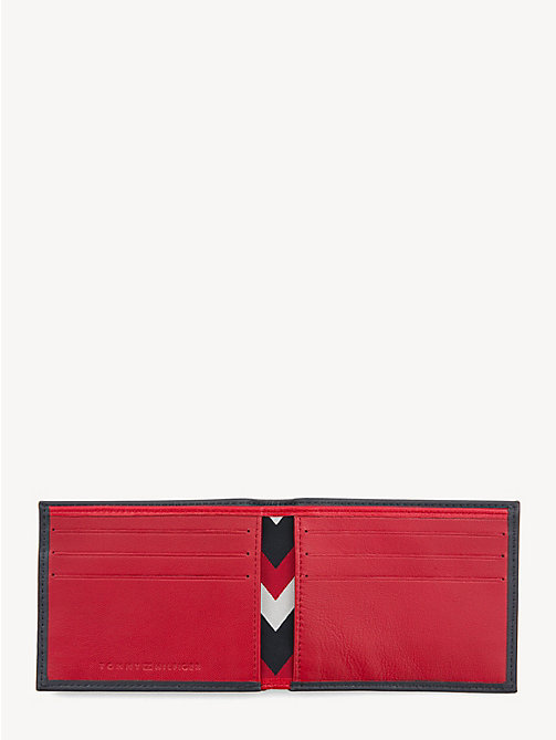 TOMMY HILFIGER Kleine Leder-Brieftasche mit TH-Prägung - TOMMY NAVY/ TOMMY RED - TOMMY HILFIGER NEW IN - main image 1