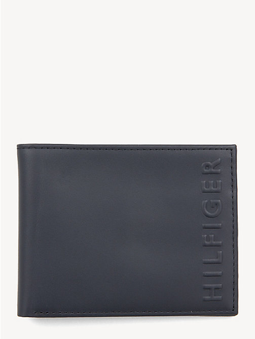 TOMMY HILFIGER Small TH Embossed Leather Wallet - TOMMY NAVY/ TOMMY RED - TOMMY HILFIGER NEW IN - main image