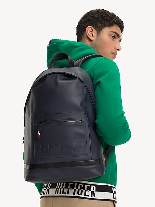 TOMMY HILFIGER Logo Embossed Backpack - TOMMY NAVY / BLACK - TOMMY HILFIGER NEW IN - detail image 1