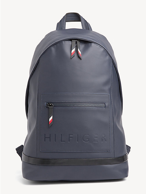 TOMMY HILFIGER Logo Embossed Backpack - TOMMY NAVY / BLACK - TOMMY HILFIGER NEW IN - main image