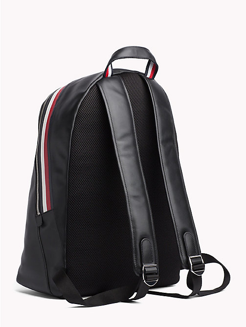 TOMMY HILFIGER Signature Leather Dome Backpack - BLACK - TOMMY HILFIGER NEW IN - detail image 1