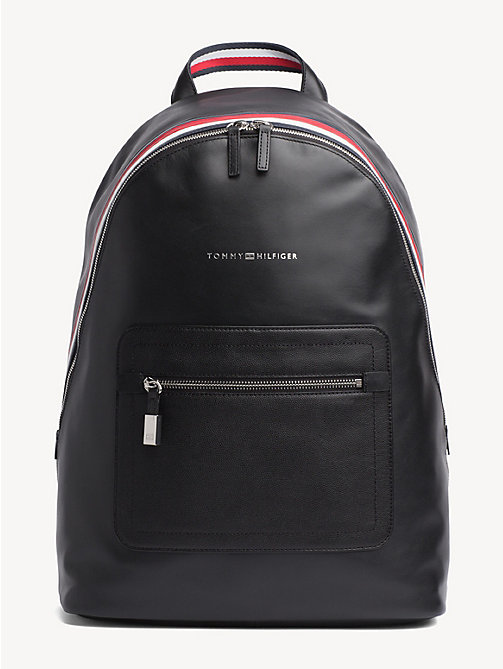 TOMMY HILFIGER Signature Leather Dome Backpack - BLACK - TOMMY HILFIGER NEW IN - main image