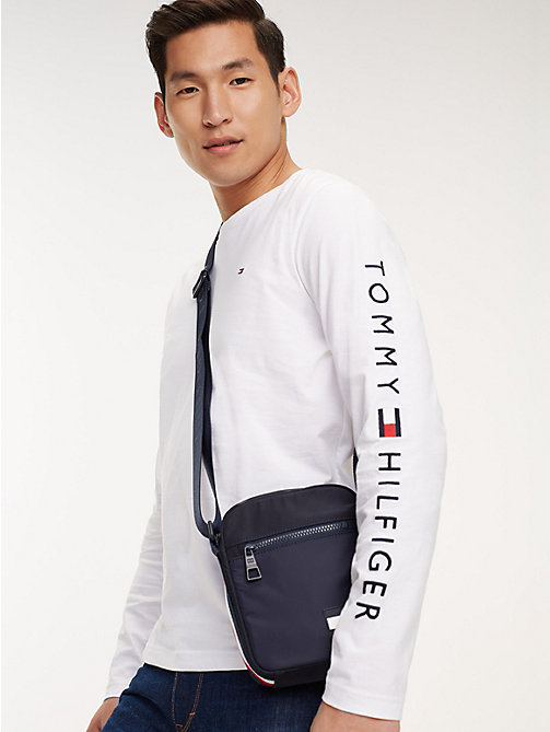 TOMMY HILFIGER Logo Tape Reporter Bag - TOMMY NAVY - TOMMY HILFIGER Crossbody Bags - detail image 1