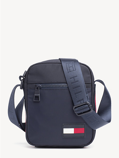 TOMMY HILFIGER Logo Tape Reporter Bag - TOMMY NAVY - TOMMY HILFIGER Crossbody Bags - main image
