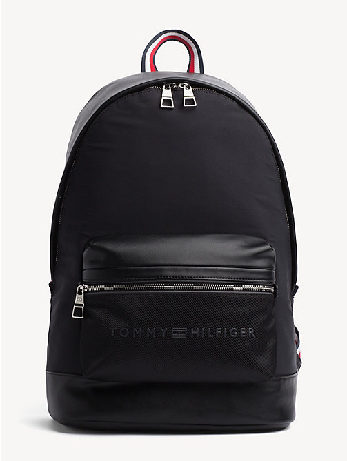 TOMMY HILFIGER Signature Tape Handle Backpack - BLACK - TOMMY HILFIGER NEW IN - main image