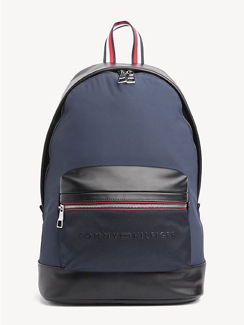 TOMMY HILFIGER Signature Tape Handle Backpack - TOMMY NAVY / BLACK - TOMMY HILFIGER NEW IN - main image