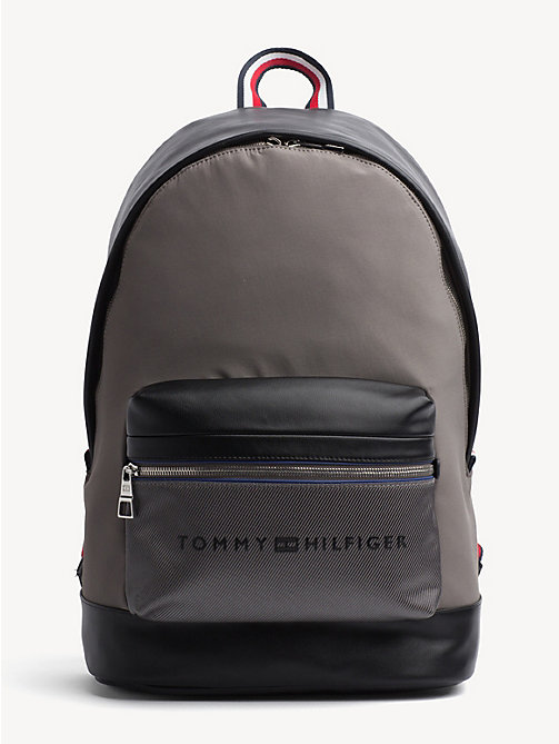 TOMMY HILFIGER Signature Tape Handle Backpack - GREY / BLACK - TOMMY HILFIGER NEW IN - main image