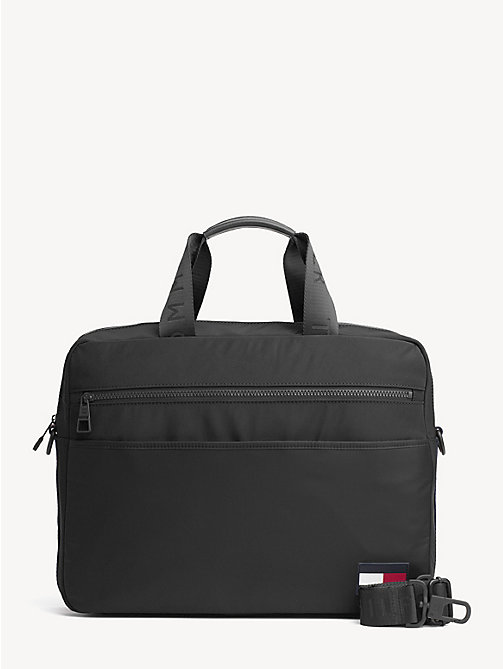 TOMMY HILFIGER Logo Tape Laptop Bag - BLACK - TOMMY HILFIGER NEW IN - main image