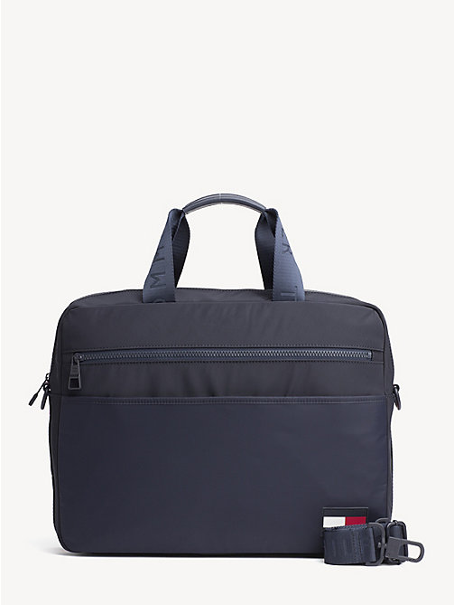 TOMMY HILFIGER Laptop-Tasche mit Logo-Tape - TOMMY NAVY - TOMMY HILFIGER NEW IN - main image