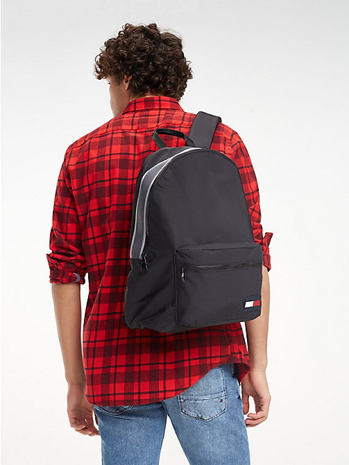 TOMMY HILFIGER Colour-Blocked Dome Backpack - BLACK - TOMMY HILFIGER Backpacks - detail image 1