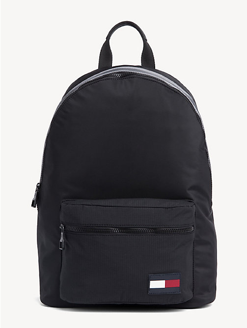 TOMMY HILFIGER Colour-Blocked Dome Backpack - BLACK - TOMMY HILFIGER Backpacks - main image