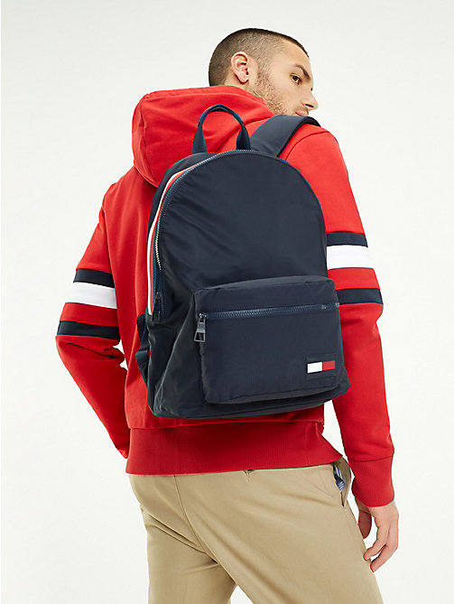 TOMMY HILFIGER Colour-Blocked Dome Backpack - TOMMY NAVY - TOMMY HILFIGER Backpacks - detail image 1
