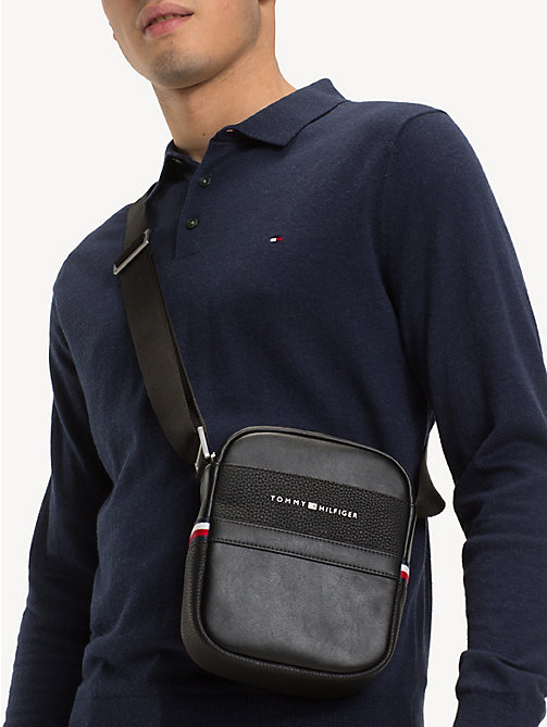 TOMMY HILFIGER Small TH Business Reporter Bag - BLACK - TOMMY HILFIGER Crossbody Bags - detail image 1