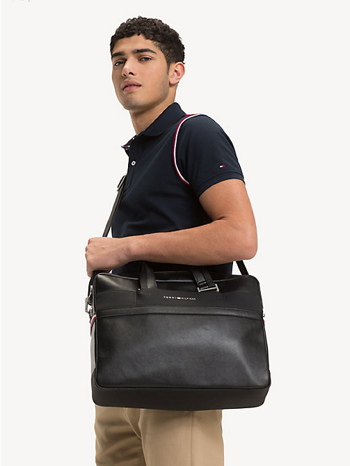 TOMMY HILFIGER Sacoche TH Business pour ordinateur portable - BLACK - TOMMY HILFIGER Porte-documents - image détaillée 1